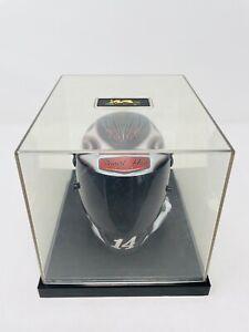 Motorsports Authentics TONY STEWART #14 MINI HELMET w/Acrylic Display Case EUC