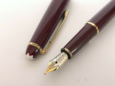 Rare Montblanc Burgundy Meisterstuck 144 18k Gold nib Fountain Pen Burgundy