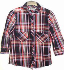 Quiksilver femme carreaux veste en jean Taille UK 12 MEDIUM