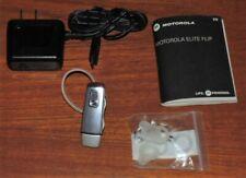 Motorola Elite Flip Hz720, Oem Charger, Manual, Extra Earhooks/Earbuds, - Read