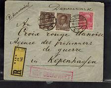 1916 Vienna Austria POW Camp Cover to Denmark Prisoner of War Red Cross