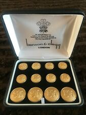 """Benson & Clegg Blazer """"Lion"""" Buttons Set of 12, Brand New In Box And Gift Bag"""