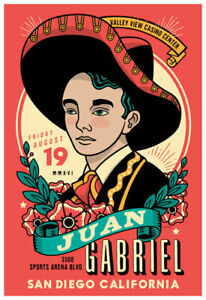 Juan Gabriel - Juanga in San Diego 2016 Last Tour Poster by Scrojo 8/19/2016