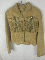Scully Fringed Suede Leather Jacket Size S