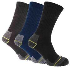 6 Pairs Mens Black/Navy/Charcoal Comfortable Hardwearing Work Socks, Size 6-11