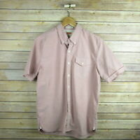 LEVI'S Men's Standard Fit Cuffed Short Sleeve Button Front Shirt M Medium Purple