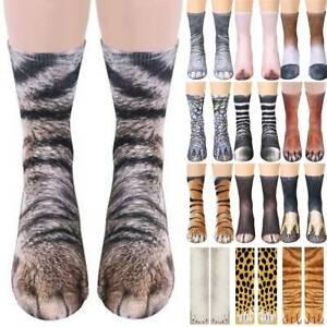 Unisex Funny Socks Animal Cat Paws Feet 3D Stockings Women Mens Novelty Gift NEW
