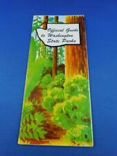 OFFICIAL GUIDE TO WASHINGTON STATE PARKS HISTORICAL SITES MAPS VINTAGE