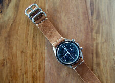 Horween Snuff Suede Horsehide Leather 2-piece Watch Strap Band 22mm