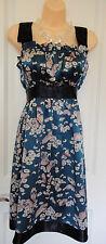 Betsey Johnson Blue Floral Sleeveless Dress~Sz  6-8~ Gorgeous~