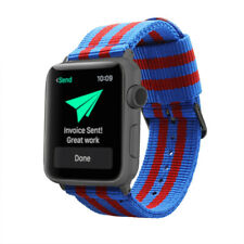 Pulsera de Nailon para Apple Watch FCBarcelona 42mm / 44mm iWatch 6/5/4/3/2/1/SE