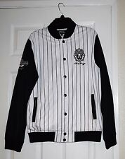 "Pre-owned FINALLY FAMOUS ""Detroit Legends 1988"" Jersey Jacket white/black size M"