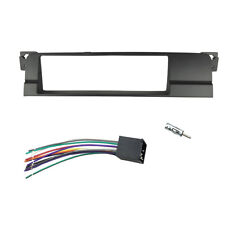 1 Din Radio Fascia for BMW 3 Series E46 Stereo Faceplate With Wire Adapter Kit