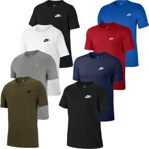 Mens Nike T Shirt TShirt Logo T-Shirt Sports Crew Top Retro Casual Cotton Tee