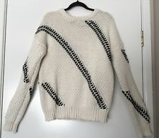 COUNTRY ROAD Black White Knit Jumper Size S #12124