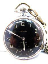 Kienzle Handaufzug Antimagnetic Taschenuhr mit Kette Pocket Watch Germany c 1950