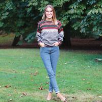 Alpakapullover Handarbeit Alpakapulli Strickpulli Lama Damen Norweger Sweater