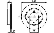 BOSCH Juego de 2 discos freno Trasero 260mm MITSUBISHI VOLVO S40 0 986 478 898