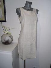 robe 3 trous 100% lin courte sans marque taille S 36 38 couleur écru pour l'été