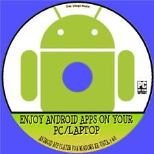 ENJOY ANDROID APPS ON YOUR WINDOWS PC/LAPTOP, SIMPLE ANDROID APP PLAYER CD NEW