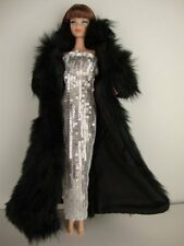 Nouveau manteau artisanale pour poupée Barbie@robe de mariage de princesse libre