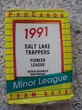 1991 SALT LAKE TRAPPERS MINOR LEAGUE TEAM SET PC