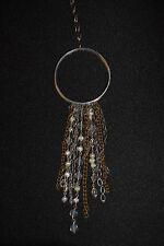 """SILPADA - N2425 - Glass Pearl Brass Sterling Silver """"Tassel"""" Necklace - RET"""
