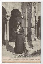 Arlesienne Cloitre de Saint Trophine Arles France postcard