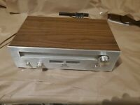Vintage Akai AT-2200 AM/FM Stereo Radio Tuner Silver Face.