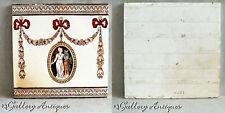 "Antique Wedgwood Art Nouveau Classical aesthetic Brown & White 6"" Tile 1880s (a)"