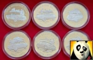 2009 ALDERNEY £5 Five Pounds Collection British Motorcar Silver Proof Coin