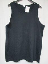 Gildan Women's Sleeveless T-Shirt Cotton Gym Run Basketball Size L     g10