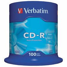 CD Rohlinge 100 Stück 700 MB Verbatim Extra Protection Pack mit Spindel