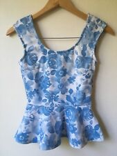 FOREVER NEW Womans Top Size 6 Floral Peplum Excellent Condition