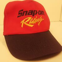 Snap-on Tool Racing Snapback Hat Ball Cap and Red and Black