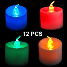 12 PCS of  LED FLAMELESS Color ChangingTealight Candles Battery Operated