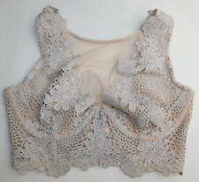 Victoria's Secret Size 34C 34D 34DD Nude Plunge Floral Bra Dream Angels