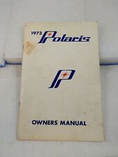 1973 Polaris Colt, Charger, & Mustang Snowmobile Owners Manual (H1)