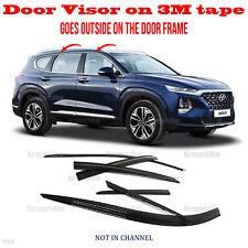 2S Tape Smoke Door Window Vent Visor Deflector â�6pcsâ� fits Santa Fe 2019-2021 (Fits: Hyundai)