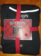Men's Chaps 2 Piece Sleep Set Jersey Knit Henley Top &Micro Fleece Pants Size S
