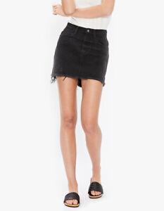 One Teaspoon Womens High Waist 21027 Skirt Oak Black Size 26