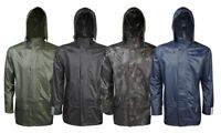 Mens Ladies Adults Pv Waterproof Rain Shower Proof Jacket Overcoat Size S to 5XL