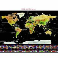 Tracker Scratch Off World Map Poster with Country Flags Scratch Fresh Map