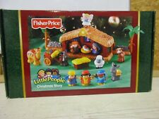 Fisher-Price little people Christmas story manger Jesus Angel animals sheep king