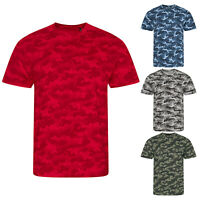 AWDis Just T's Unisex Camo Camouflage Short Sleeved Crew Neck T-Shirt Tee Top