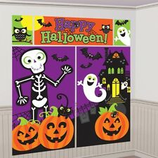 Happy Halloween Decorating Kit - 5 Piece Set - Halloween Scene Setter Party Pack