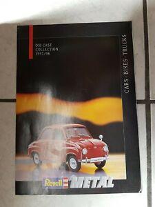 Revell Metal-  Katalog/Prospekt   -- für das Jahr 1997/98  -  24 seiten umfang