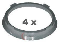 4 Stück Zentrierringe Kunststoff 74.1mm auf 65.1mm grau