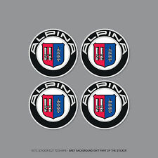 SKU2133 - 4 x BMW Alpina Wheel Centre Stickers Badges Car - 50mm