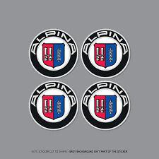 SKU2135 - 4 x BMW Alpina Wheel Centre Stickers Badges Car - 56mm
